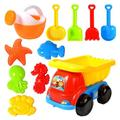 Tuscom Beach Sand Toys for Kids, Toddlers Beach Toy Sand Set Summer Outdoor Toy Sandpit Learning Playing Toy Gift Set for Children's (11 Piece)