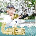 Gatling Bubble Machine, Cool Toys & Gif for Summer Children Kids Plastic Machine Gun Toy Boy Bubbles for Kid Bubbles Kids Toys