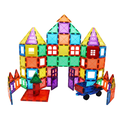 Skymags Magnetic Blocks, Magnet Tiles for Kids, Magnetic Building Blocks 100 Pcs Set Toys for Boys and Girls ages 3 4 5 6 7 8 year old, Educational, Inspirational, Creative Open-Ended Play STEM Toys.