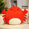 Crab Plush Pillow Animals Doll Toys, PP Cotton Filler Soft Plush Toys Plush Stuffed Animal Toy Ornaments Plush Toy The Crab Throw Pillows Birthday Gift for Family, Home Ornaments