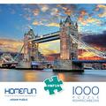 """Puzzles 1000 Pieces for Adults, HMFUNTM Jigsaw Puzzles for Adults Kids Large Puzzle Game Toys Gift, London Tower Bridge Puzzles 27.5"""" x 19.6""""/70cm x 50cm"""