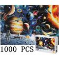 1000 Piece Puzzles for Adult Kids DIY Space Puzzles Jigsaw Puzzles for Adults 1000 Piece Puzzle for Adults Large Puzzle Game Decompression Toys 27.5x19.7inch Family Puzzles for Kids