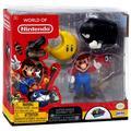 World of Nintendo Super Mario Odyssey Mario with Cappy, Power Moon & Bullet Bill Mini Figure 3-Pack