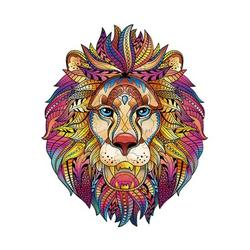 Wooden Jigsaw Puzzles, Unique Lion Shape Jigsaw Pieces, Animal Shaped Jigsaw, High Difficulty Unmarked Jigsaw Puzzle Game Toys for Adults Kids Boys and Girls, Best for Family Game Play Collection