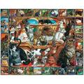 Puzzles World of Cats - 1000 Piece Jigsaw Puzzle1000-PIECE PUZZLE: Thrill and challenge your family and friends piecing together this.., By White Mountain