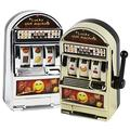 BigOtters Slot Machine Toy, 2PCS Mini Casino Lucky Lottery Game Machine Bars and Sevens Slot Machine Bank with Spinning Reels Creative Gift