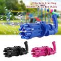 Gatling Bubble Gun 2021 Cool Toys Gift Eight Hole Huge Amount Automatic Bubble Maker Kids Bubble Machine Outdoor Toys for Boys and Girls