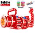 Large Gatling Bubble Machine - Gatling Bubble Gun Toys 2021 Cool Toys & Gift, 8 Hole Automatic Bubble Gun Toys with Small Fan for Kid Birthday Gift (without Bubble Liquid)