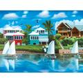 Waterfront Vacation 1000 Piece Puzzle, Assorted Folk Art by LPF Limited