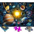 1000 Piece Jigsaw Puzzle Space Puzzle Universe Universal Sun Earth Star Satellite Cosmos Adult Planets in Solar System Space Jigsaw Puzzles