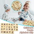 Takeoutsome 26 Letters Early Childhood Education Jig-saw Puzzle Letters Wood Chips