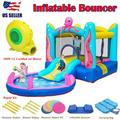 Inflatable Bounce House Jump and Splash Adventure Bounce House or Water Slide All in one, Large Pool, Long Slide , UL Certified Blower Included