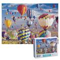 Bahar 1000 Pieces Jigsaw Puzzles for Adults, Intellectual Puzzle, Colorful Landscape Difficult Puzzle Art for Men and Women, Great Gift for Family and Friends (Hot Air Balloon)