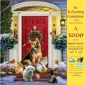 The Welcoming Committee 1000 pc Jigsaw Puzzle, The Welcoming Committee 1000 pc Jigsaw Puzzle By SunsOut Ship from US