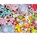 Succulents - Pretty Pastels Puzzle - 300 Pieces, Features a colorful puzzle from the Succulents collection By Brand Ceaco