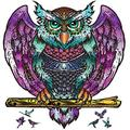 Wooden Jigsaw Puzzles,200 Uniquely Shaped Owl Puzzle Pieces,Animal-Shaped Puzzle Family Game,Wooden Puzzles for Adults,The Best Gifts for Adults and Children,10x11.8 Inches-M
