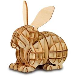 3D Wooden Puzzle Toys for Kids Adults Wooden Animal Rabbit Model Puzzle, Mechanical Puzzles Jigsaw Puzzle Toys Model Kits Assemble Puzzle Educational Toys Gifts for Kids Adults Boys Girls