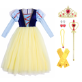 Snow White Costume - Princess Dress Up - Halloween/Christmas Costumes with Rich Accessories for Girls 3-12 Years