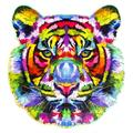 Aimik Wooden Jigsaw Puzzles Shaped Jigsaw Pieces Colorful Jigsaw Puzzles Beautiful Animal Jigsaw for Adults and Teens Rainbow-Tiger Wooden Puzzle Unique Shape Pieces Animal Gift for Adults and Kids