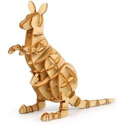 Barka Ave 3D Wooden Puzzle Toys for Kids Adults Wooden Animal Kangaroo Model Puzzle, Mechanical Puzzles Jigsaw Puzzle Toys Model Kits Assemble Puzzle Educational Toys Gifts for Kids Adults Boys Girls