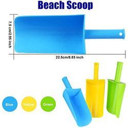 Aokzon Children's Outdoor Beach Shovel Kids Short-Handled Sand Shovel Plastic Beach Shovel Children's Beach Toys are Suitable for Shoveling Sand and Snow Beach Shovel for Kids 3 Pack