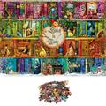 ankishi 1000 Piece Puzzles for Adults Large Jigsaw Puzzle Teens Fun Vintage and Challenging Game Educational Toy Gift 12 Years and up