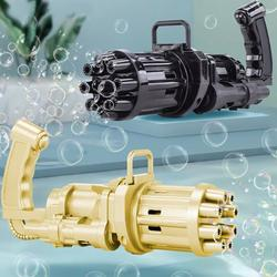 SYWAN Bubble Machine Kids Gatling Cool Bubble Gun Toy,8 Hole Huge Amount Automatic Bubble Maker for Kids Outdoor Activities