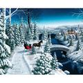 Springbok Puzzles Sleigh Ride 1000 Piece Jigsaw Puzzle Large 24 Inches By 30 Inches Puzzle Made In Usa Unique Cut Interlocking Pieces