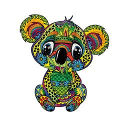 Wooden Jigsaw Puzzles, Unique Koala Shape Jigsaw Pieces, Animal Shaped Jigsaw, High Difficulty Unmarked Jigsaw Puzzle Game Toys for Adults Kids Boys and Girls, Best for Family Game Play Collection