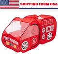 Pop Up Fire Truck, Kids Play Tent, Indoor & Outdoor Playhouse Foldable Tent for Kids, Fire Engine Design Play Tent Red Engine Toy Gift for Boys and Girls, Folding Portable Playpen Tent Play Yard