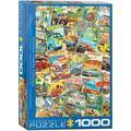 EUROGRAPHICS Vintage Travel Collage 1000 Piece Puzzle