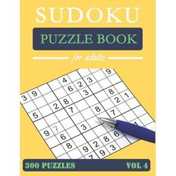 Sudoku Puzzle Book for Adults: Sudoku Puzzle Book: Big Book of Sudoku, 300 medium puzzles for adults, Puzzles and Solutions, Tons of Challenge for your Brain! Vol4 (Paperback)