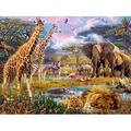 Puzzles for Adults 300 Piece?African Beasts?African Animal Puzzle?Jigsaw Puzzle?Wooden Puzzle,Finished Size: 15?10 Inches