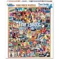 White Mountain Puzzles The Eighties - 1000 Piece Jigsaw Puzzle, EIGHTIES POP CULTURE: Colorful collage puzzle featuring fashion, sports,.., By Visit the White Mountain Store