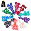 QMAY 70PCS DND Dice, Glitter Polyhedral Game Dice Set Role Playing Dice Compatible with Dungeons and Dragons DND RPG MTG Table Games