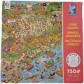Comic Crowds Adult Puzzle 750 pc - The Campsite, Adult puzzle size 18 x 24 By Brand Ceaco