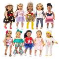 HAPPY ELFIN 10 Sets Doll Clothes for American 18 inch Girl Doll - These American 18 inch Girl Doll Accessories are Unique- American Doll Girl Stuff for Endless Hours of Play