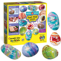 Creativity for Kids Glow In The Dark Rock Painting Kit - Paint 10 Rocks with Water Resistant Glow Paint - Crafts for Kids