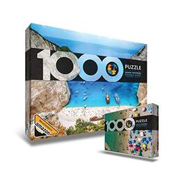 Double Sided Beach Jigsaw Puzzle 1000 Pieces - Puzzles for Adults 1000 Piece - Puzzle of Navagio and Montenegro - Puzzles for Adults - Jigsaw Puzzles 1000 Pieces for Adults - Puzzle