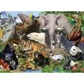 Zewfffr 1000pcs DIY Forest Friend Paper Puzzles Toy Kids Adult Educational Jigsaw