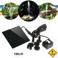 FOXNOVO 7V 1.2W 180L/H Solar Power Water Pump Aquarium Fountain Pool Garden Pond Submersible Pump (Black)