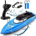 RC Boat - Remote Control Boat for Kids and Adults – 15 MPH Speed – Durable Structure – Innovative Features – Incredible Waves – Pool or Lake - 2 Channel Racing – 2.4 GHz Remote Control - B801 Model