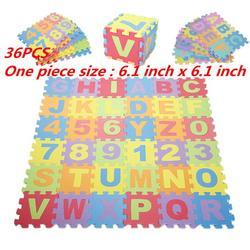 Jeobest Baby Foam Play Mat - Kids Foam Puzzle Floor Play Mat - Baby Foam Play Mat 36PCS/Set Alphabet and Numbers Foam Puzzle Play Floor Mat Colorful EVA Foam Puzzle Play Floor Mat for Kids MZ