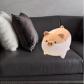 Ruziyoog Stuffed Toy Animal Plush Pig Toy Anime Corgi Kawaii Plush Soft Pillow, Plush Toy Gifts Pink