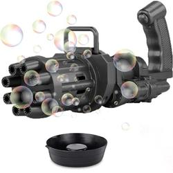 Bubble Machine 2021 Gatling Bubble Gun 8 Hole Bubble Gun Bubble Machine Automatic Bubble Blowing Machine Electric Bubble Machine Machine Toys Suitable For Toddlers, Boys And Girls