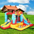 Castle Bounce House, YOFE Inflatable Castle Bounce House for 4 Kids, Jumping Castle Bounce House with Slide, Climbing Wall/Ball Pit, Bouncy Bounce Castle for Yard, Park, Lawn, Blower/Carry Bag, R5642