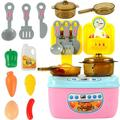 Actoyo 12 Pcs Play Food for Kids Kitchen, Toy Foods with Cutting Fruits for Pretend Play, Play Kitchen Accessories Fruit Kitchen DIY Toys Set Plastic Toy Vegetables Play Food Kitchen Kids Dishes