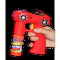 Fun Central (BC884) 1pc 7 Inch Red Car LED Bubble Gun, Car Bubble Blower Gun for Kids, Bubble Machine Gun
