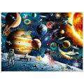 1000 Pieces Jigsaw Puzzles for Adults, Themes Puzzle Sets for Family, Cardboard Puzzles, Educational Games, Brain Challenge Puzzle for Kids Childrens-Space Travel