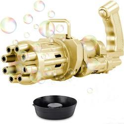 1 Pack Bubble Gun, Gatling Bubble Machine Bubble Gun 8-Hole Bubble Blower Automatic Bubble Maker Machine Electric Bubble Gun Bubble Machine Toy for Toddler